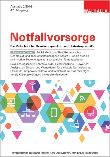 Zeitschrift Notfallvorsorge Heft 02/2016 - Blick ins Buch