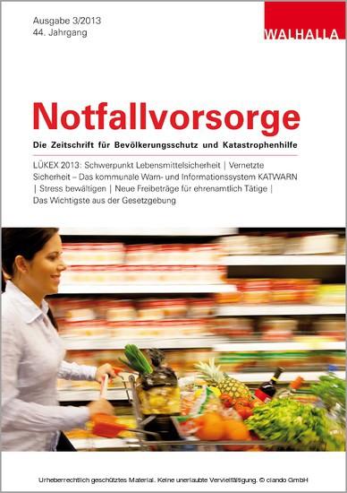 Zeitschrift Notfallvorsorge Heft 03/2013 - Blick ins Buch