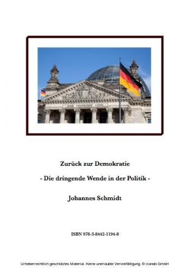 Zurück zur Demokratie - Die dringende Wende in der Politik - Blick ins Buch