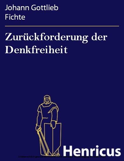 Zurückforderung der Denkfreiheit - Blick ins Buch