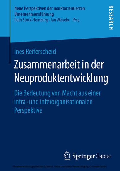 Zusammenarbeit in der Neuproduktentwicklung - Blick ins Buch