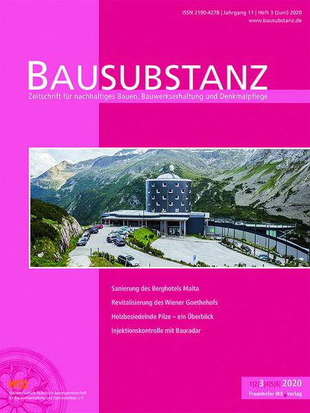 Bausubstanz Fachzeitschrift Bautenschutz Bausanierung
