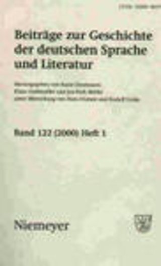 Beitraege zur Geschichte der deutschen Sprache und Literatur