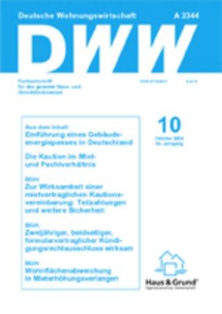 DWW - Deutsche Wohnungswirtschaft