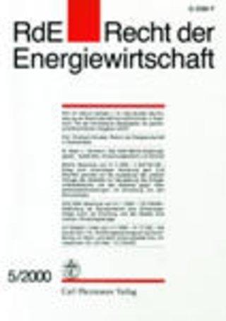 RdE Recht der Energiewirtschaft