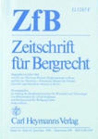 ZfB - Zeitschrift für Bergrecht