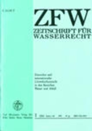 ZFW - Zeitschrift für Wasserrecht
