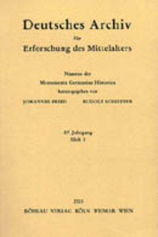 Deutsches Archiv für Erforschung des Mittelalters