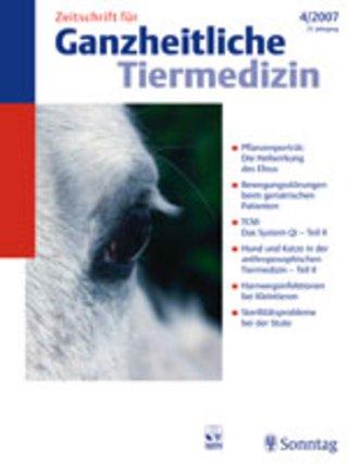 Zeitschrift für Ganzheitliche Tiermedizin