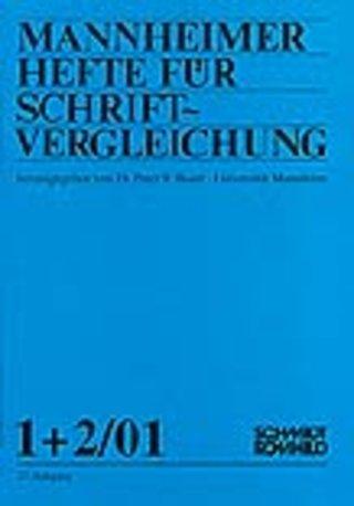 Mannheimer Hefte für Schriftvergleichung