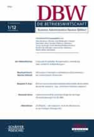 DBW - Die Betriebswirtschaft