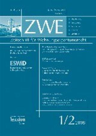 Zeitschrift für Wohnungseigentumsrecht