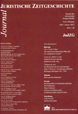Journal der Juristischen Zeitgeschichte (JoJZG)