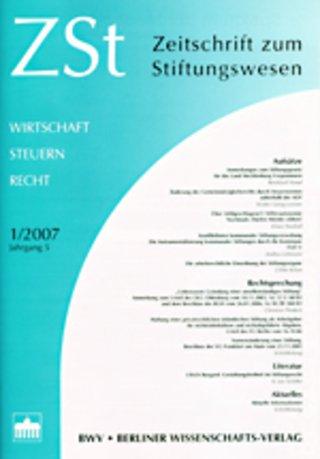 Zeitschrift zum Stiftungswesen