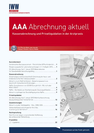 AAA Abrechnung aktuell