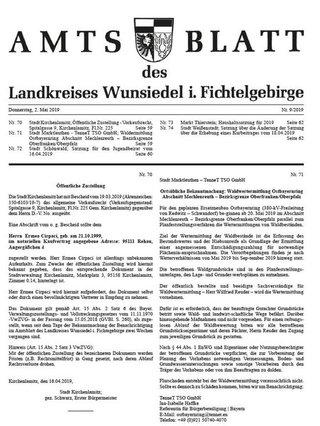 Amtsblatt des Landkreises Wunsiedel i.Fichtelgebirge