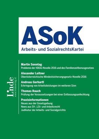 ASoK Arbeits- und SozialrechtsKartei