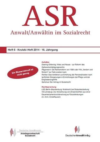 ASR- Anwalt/Anwältin im Sozialrecht