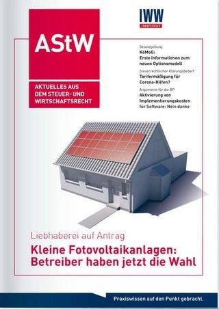 AStW Aktuelles aus dem Steuer- und Wirtschaftsrecht