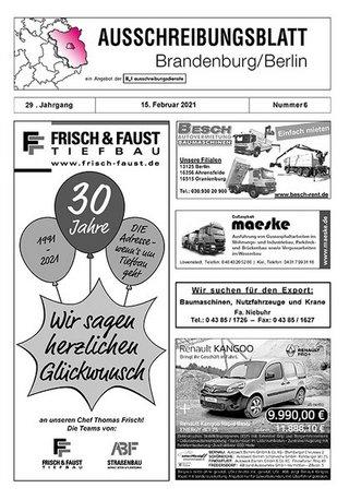 Ausschreibungsblatt Brandenburg/Berlin