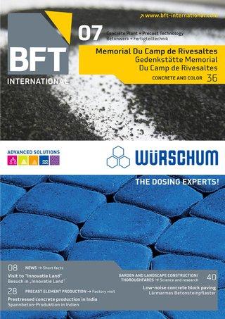 BFT INTERNATIONAL Betonwerk + Fertigteil-Technik