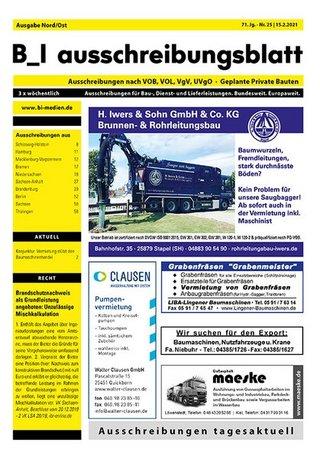 B_I ausschreibungsblatt Nord/Ost