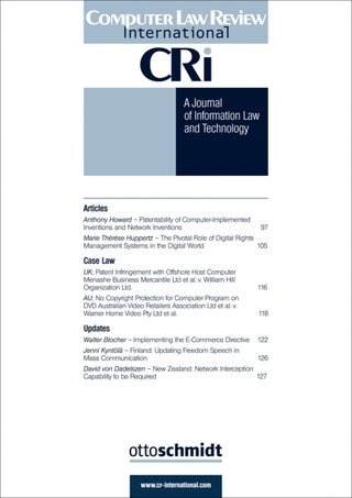 Computer Law Review International