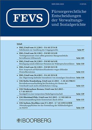 Fürsorgerechtliche Enscheidungen der Verwaltungs- und Sozialgerichte (FEVS)
