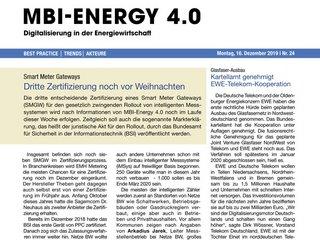 MBI-Energy 4.0 - Digitalisierung in der Energiewirtschaft
