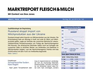 Marktreport Fleisch & Milch