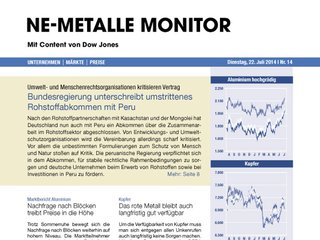 NE-Metalle Monitor