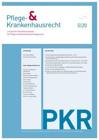 PKR Pflege- & Krankenhausrecht