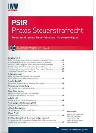 PStR Praxis Steuerstrafrecht