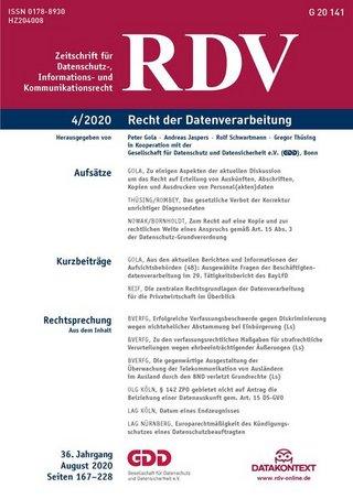 RDV Recht der Datenverarbeitung