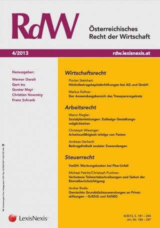 RdW - Österreichisches Recht der Wirtschaft