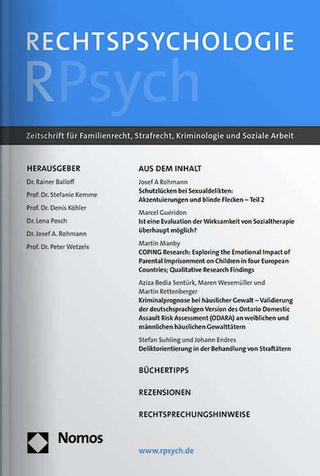Rechtspsychologie – RPsych