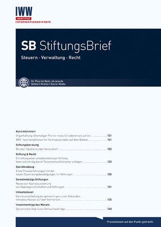 SB StiftungsBrief