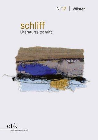 schliff Literaturzeitschrift