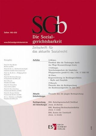 Sozialgerichtsbarkeit, Die SGb