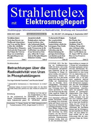 Strahlentelex mit Elektrosmog-Report