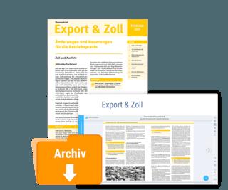 Themenbrief Export & Zoll
