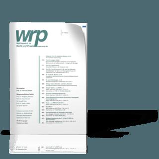 Wettbewerb in Recht und Praxis (WRP)