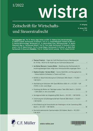 wistra – Zeitschrift für Wirtschafts- und Steuerstrafrecht