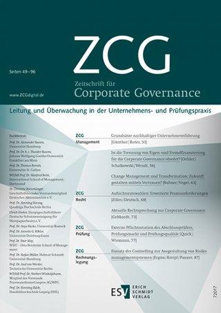 Zeitschrift für Corporate Governance ZCG