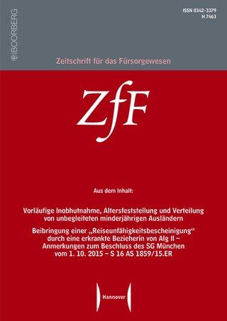 Zeitschrift für das Fürsorgewesen (ZfF)