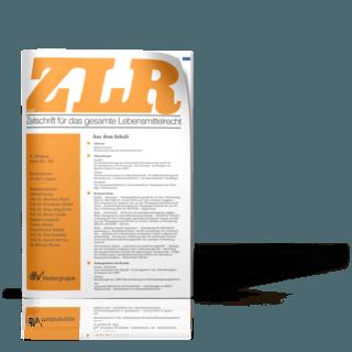 Zeitschrift für das gesamte Lebensmittelrecht (ZLR)