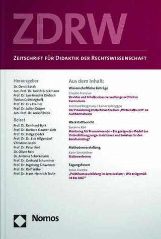Zeitschrift für Didaktik der Rechtswissenschaft - ZDRW