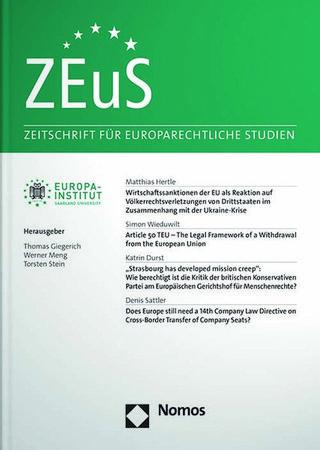 Zeitschrift für europarechtliche Studien - ZEuS