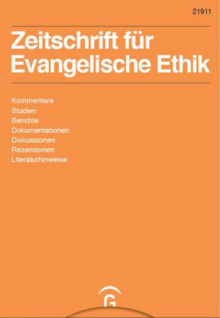 Zeitschrift für Evangelische Ethik