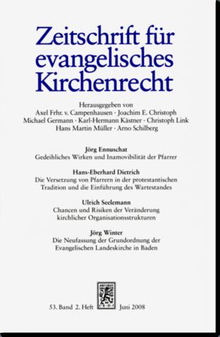 Zeitschrift für evangelisches Kirchenrecht (ZevKR)